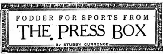 Press Box Graphic from 1936