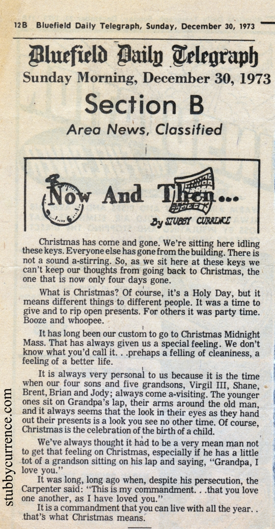 Christmas Now and Then Column Stubby Currence