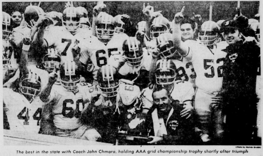 1975 Bluefield Beaver State Champions. Photo by Melvin Grubbs.